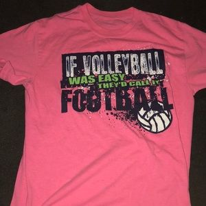 Neon pink volleyball shirt